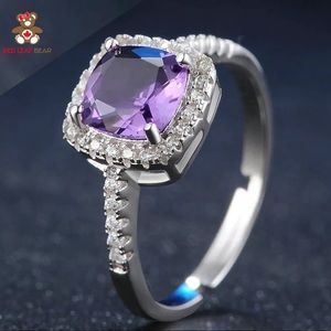 Jewelry - 1.5ct Natural Square Cut Purple Amethyst Ring